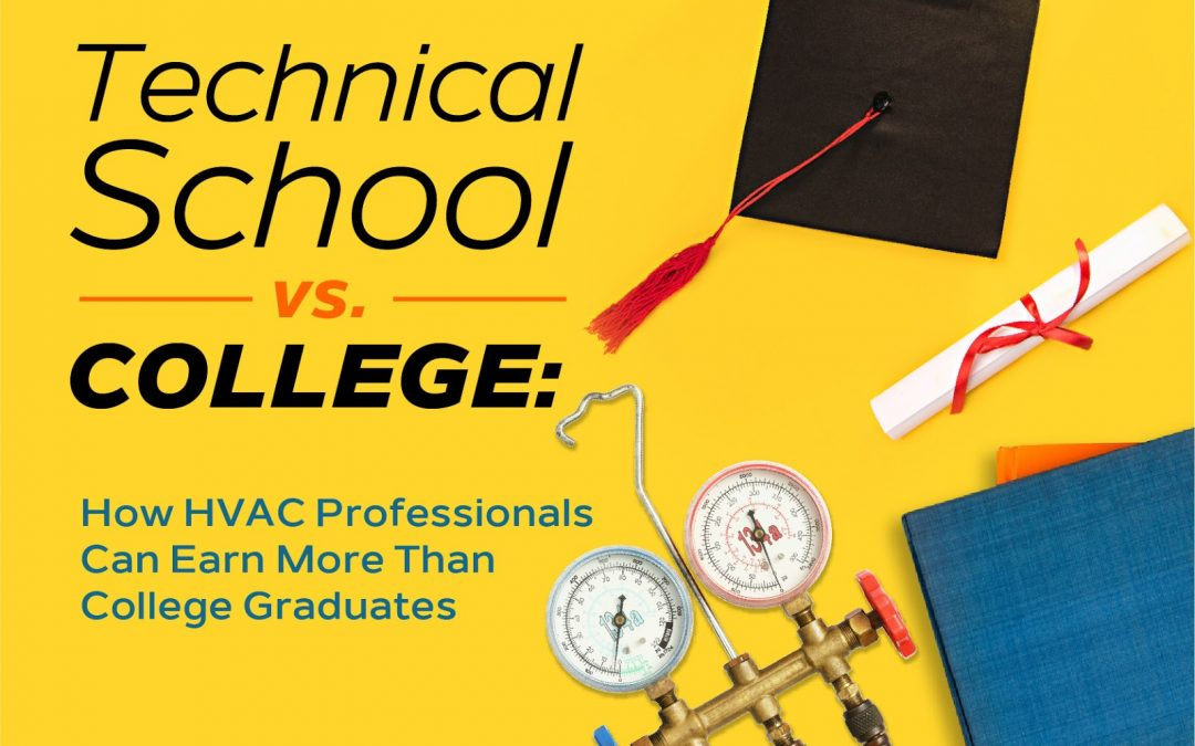 Technical School vs. College: How HVAC Professionals Can Earn More Than College Graduates